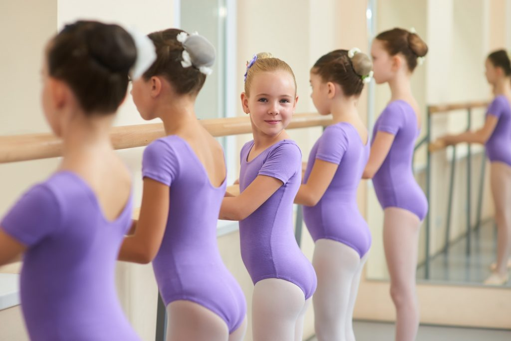 Ballet Leotard cute girl purple