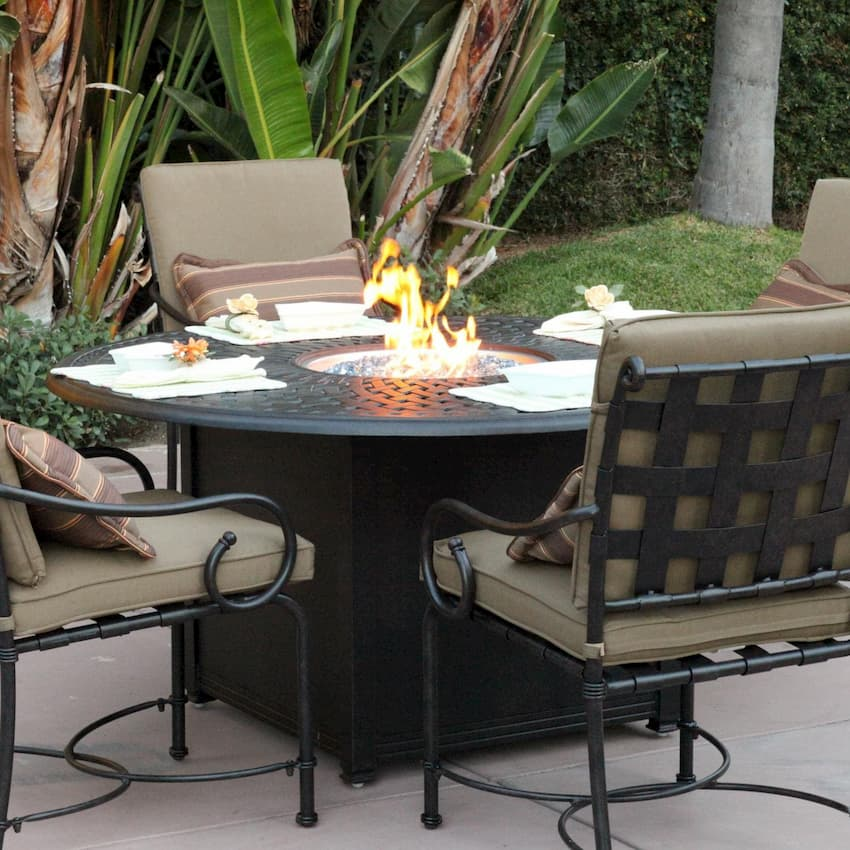 fire pits outdoor dining area