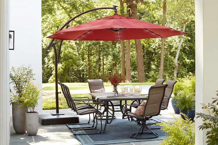 outdoor umbrellas and shades
