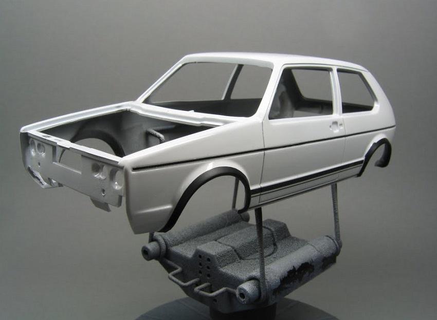 Car model paint job