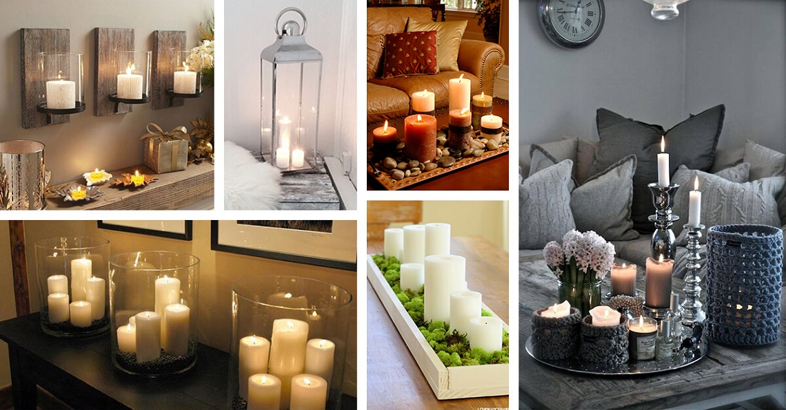 Candles at home