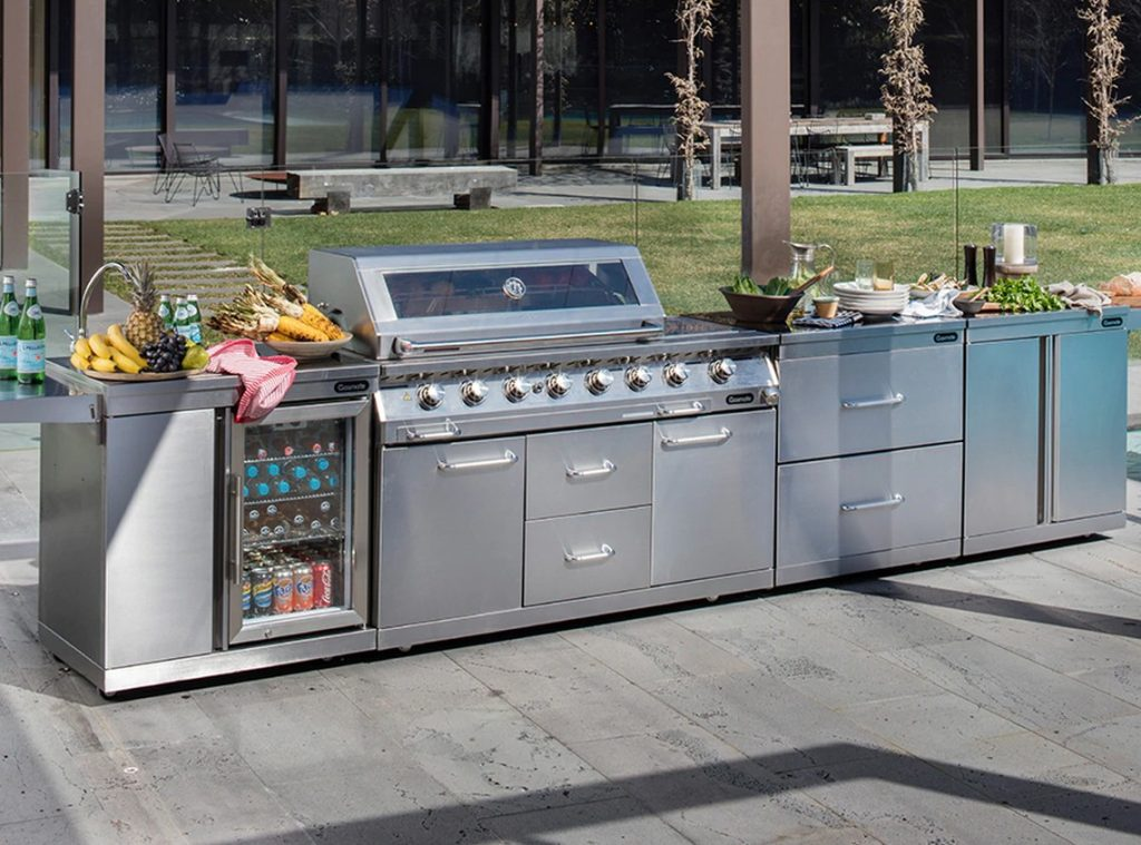 outdoor kitchen stainless steel cabinet