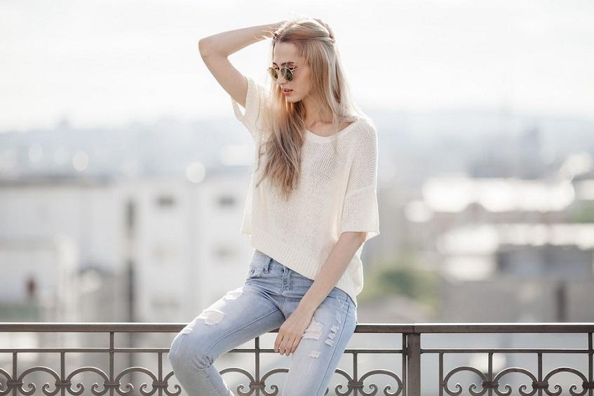 Teenage girl jeans