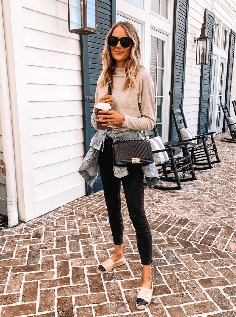 picture of a woman in a casual outfit and Espadrilles