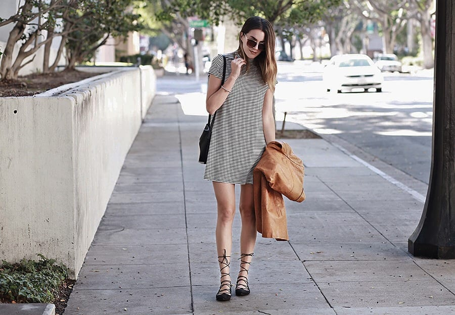 picture of a woman wearing stylish outfit on the street